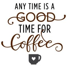Silhouette Design Store - View Design #129077: any time is good time for coffee
