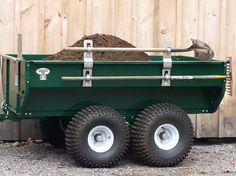 """More product will be available June Consider placing an advance order now to ensure you will receive a trailer in June. The """"SWISS ARMY KNIFE"""" of ATV work trailers MADE IN CANADA Quad Trailer, Work Trailer, Utility Trailer, Atv Dump Trailer, Accessoires Quad, Utv Trailers, Tractor Accessories, Travel Jobs, Scooter Motorcycle"""