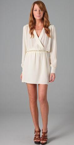 Parker White Wrap Dress