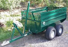 """Due to an unprecedented demand for trailers this spring we have sold out. More product will be available June Consider placing an advance order now to ensure you will receive a trailer in June. The """"SWISS ARMY KNIFE"""" of ATV work trailers MADE IN CANADA Quad Trailer, Work Trailer, Trailer Build, Lawn Tractor Trailer, Atv Utility Trailer, Utv Trailers, Trailer Axles, Life Cycle Bike, Life Cycles"""
