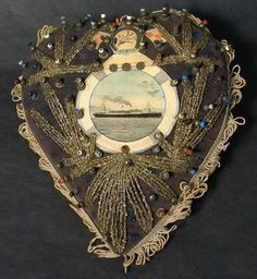 Empress of Ireland, heart shaped pin cushion