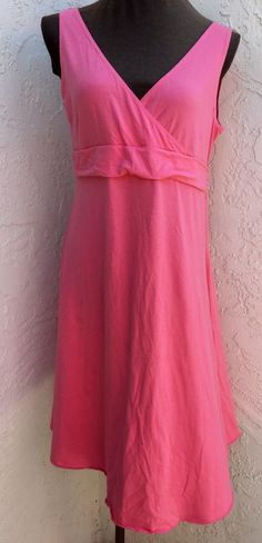 Baby Style size L pink sleeveless cotton casual solid summer maternity dress NEW #BabyStyle #SunDress #Casual