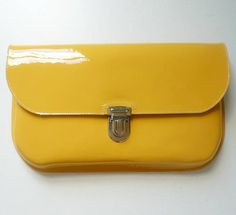 Yellow Patent Leather Clutch from notonthehighstreet.com