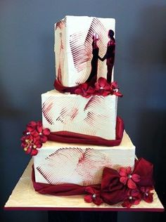 ❤◡love this❤modern art cake. ...BTW, check this out!!!! : http://artcaffeine.imobileappsys.com