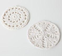 Knit & Crochet Coaster Set - Knitting Patterns and Crochet Patterns from KnitPicks.com
