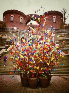 swedish paskris (birch twigs with colourful feathers) for easter