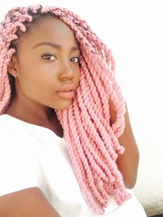 A super chic alternative to braids are twisted hairstyles! If you want a new look for your natural hair, check out these 30 awesome stylish twist hairstyles. Twists, Twist Braids, Yarn Braids Styles, Braid Styles, Twist Styles, Black Girls Hairstyles, Twist Hairstyles, Woman Hairstyles, Baddie Hairstyles
