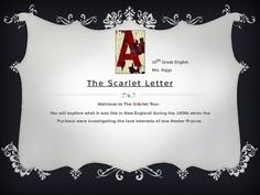What's a thesis statement i could use for my paper on the scarlet letter?
