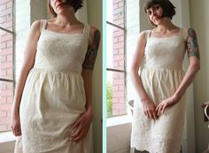 Hazel dress - by Colette Patterns... Beautiful use of embroidered fabric