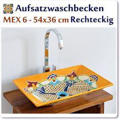 Mexikanische Aufsatzwaschbecken reckteckig