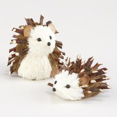 One of my favorite discoveries at WorldMarket.com: Mini Natural Fiber Hedgehogs, Set of 2