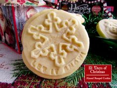Stamped Almond Shortbread cookies