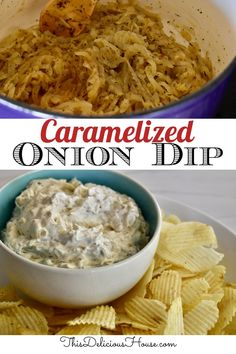 Caramelized Onion Dip is the best way update to your classic onion dip recipe. Made with slow cooked caramelized onions and thyme, this dip will sure to be the hit of your party. #caramelizedoniondip #oniondip Make Ahead Brunch, Make Ahead Appetizers, Make Ahead Meals, Appetizers For Party, Easy Holiday Recipes, Healthy Dinner Recipes, Healthy Snacks, Easy Party Food, Easy Food To Make