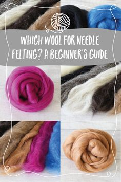 Which wool do you need for needle felting? A beginner's guide Needle Felting Supplies, Wool Needle Felting, Felt Diy, Felt Crafts, Sewing Projects, Craft Projects, Craft Ideas, Sheep Wool, Felt Flowers