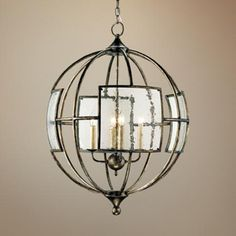 """Lamps plus Currey and Company Broxton 24"""" Wide Bronze Chandelier -"""
