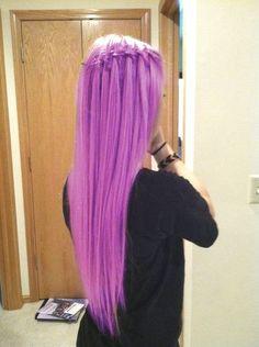 purple waterfall braid