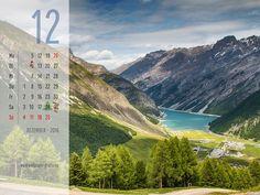 Dezember - Kalender 2016 - Livigno - die Alpen - Italien
