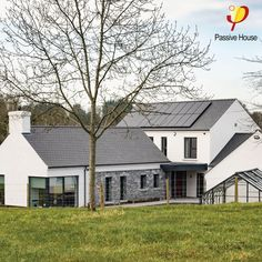 Contemporary Eco Homes — Paul McAlister Architects House Designs Ireland, Modern Bungalow Exterior, Ireland Homes, Passive House, Modern Farmhouse Plans, Architect House, Facade, Eco Homes, Modern Houses