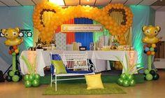 Fiesta para niño con tema de la guarida del león (5) - Decoracion de Fiestas Cumpleaños Bodas, Baby shower, Bautizo, Despedidas