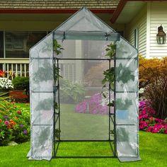 Garden Buildings 143 X 73 X 195cm 4 Tier Mini Greenhouse Iron Stands Shelves Garden Balconies Patios Decor Sale Overall Discount 50-70%