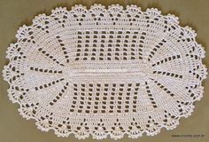 Tapete oval em crochê com aplicação de flores – Passo a passo (1ª Parte)…