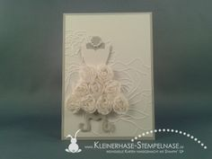 Hochzeitskarte mit All Dressed Up | Kleinerhase-Stempelnase