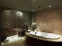 Cool bathroom design at Sofitel #Munich Bayerpost - Germany. #luxury #relax
