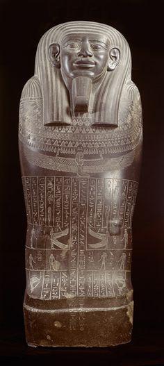 Sarcophagus of Wahibremakhet. Kushite Ethiopian 25th dynasty. Egypt. Royal museum, Netherlands.