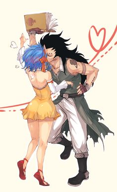 Levy McGarden and Gajeel Redfox (Gale) from Fairy Tail