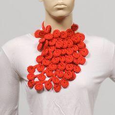 Free ShippingVALENTINE SCARF For Valentine Crochet by ozlemdesign, $30.00