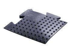 Absorbing rubber floor corner  Description: De Absorbing rubber floor is een all-round rubberen vloer welke geschikt is voor diverse ruimtes! \\n De tegels zijn 1m2 15mm dik en hebben een licht geluidsdempende werking. \\n De randen en hoeken hebben een afloop waardoor je niet kunt vallen. Geschikt voor intensief commercieel gebruik. \\n De Absorbing rubber floor bestaat uit de volgende elementen: \\n - Absorbing rubber floor tile - afmeting: L1000mm x B1000mm x H15mm - Absorbing rubber…