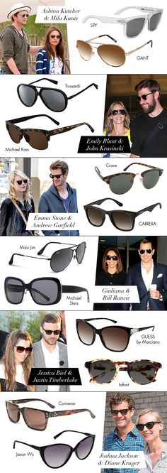 Celeb Couples in Sunwear. @Mallory McCrea Jim , @Eyecessorize