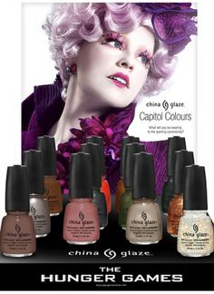 Movie Nail Polish: The Hunger Games http://www.teen.com/2012/06/06/style/beauty-news-trends-ideas-celebrity-inspiration/nail-polish-movies-snow-white-hunger-games-spiderman/#