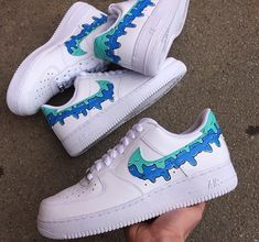 Nike Shoes OFF! ►► These Customs are 🔥 Get them in all sizes! Or even your own design! Custom Painted Shoes, Custom Shoes, Custom Tennis Shoes, Custom Af1, Moda Sneakers, Sneakers Nike, Tenis Nike Air, Nike Af1, Nike Shoes Air Force