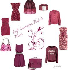 """""""Soft Summer red and plum"""" by sabira-amira on Polyvore"""