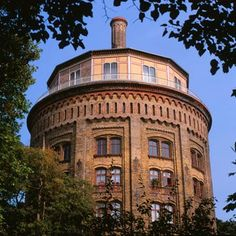 water tower in Berlin, used as office!!  Wasserturm im Prenzlauer Berg    degewo.de  Akiko: I visited this with a friend
