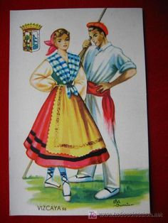 Traditional Spanish clothing from Basque