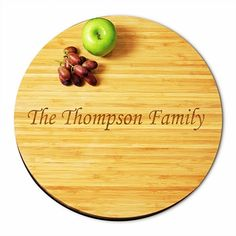 Crafted of eco-friendly bamboo, the dual sized Lazy Susans are great solutions to kitchen functionality and home décor .FREE PersonalizationAvailable in t Summer Wedding Favors, Great Wedding Gifts, Christmas Ships, Personalized Gifts For Mom, Lazy Susan, Wedding Supplies, Bamboo Cutting Board, Dining, Kitchen