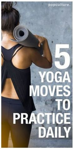 5 Yoga Poses to Practice Daily. Do them right when you wake up to center and prepare yourself for the day, or do them right before bed to reflect on a long day. Popculture.com #yoga #beginneryoga #yogastress #healthyliving #stress #yogaposes #yogainspiration