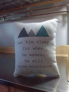 Adventure nursery pillow baby boy gift soft cotton cushion birthday gift