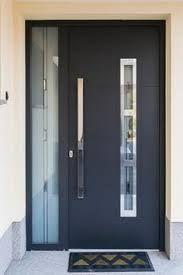 Fancy Design Home Exterior Door Ideas featuring Red Color Front Door ...