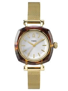 Discover an array of women's watches from Timex. From digital to analog and everything in between, find the right women's watch at Timex today! Timex Watches, Tortoise Shell, Sport Watches, Gold Watch, Bracelet Watch, Bracelets, Casual, Stuff To Buy, Accessories