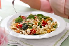 Can't make it to the Greek isles this year? Take a shorter trip to the supermarket to get feta and vegetables for this tasty pasta salad.