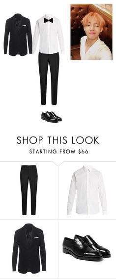 """""""Wedding-Young-Soo"""" by gonzales-family ❤ liked on Polyvore featuring Topman, Valentino, Neil Barrett, Prada, men's fashion and menswear"""
