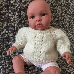 Image of Mini 3005 Sweater Med Pufærmer Str. Hygge, Baby Born, Crochet Hats, Turtle Neck, Pullover, Knitting, Sweaters, Fashion, India