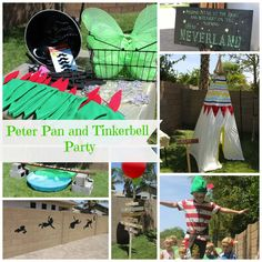 Adorable Peter Pan and Tinkerbell Party! Perfect for a co-ed kiddy party! Fairy Birthday Party, 4th Birthday Parties, Boy Birthday, Themed Parties, Birthday Ideas, Peter Pan Party, Peter Pan And Tinkerbell, Tinkerbell Party, Ideas Geniales