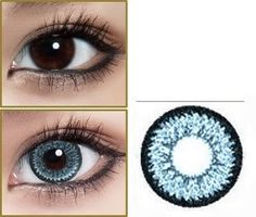 GEO Super Nudy quarter Blue Circle Lenses Colored Contacts Cosmetic Color Circle Lens   EyeCandy's