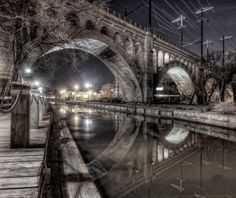 "Philadelphia Old Photo 8.5/"" x 11/"" Reprint Manayunk Bridge 1918 Penn RR"