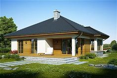 Projekt domu Kroton 116,1 m2 - koszt budowy 238 tys. zł - EXTRADOM House Layout Plans, House Layouts, House Plans, Cottage Style Homes, Better Homes, Gazebo, Outdoor Structures, How To Plan, Outdoor Decor