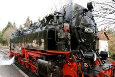 Harzer Schmalspurbahn in the Harz Mountains